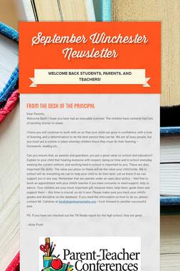 September Winchester Newsletter
