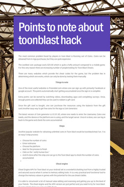 Points to note about toonblast hack
