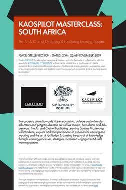 KAOSPILOT MASTERCLASS: SOUTH AFRICA