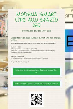 MODENA SMART LIFE ALLO SPAZIO LEO