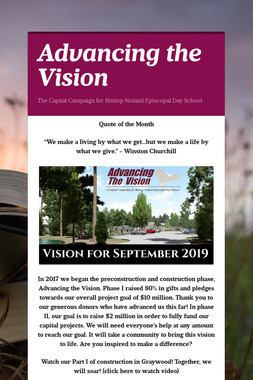 Advancing the Vision