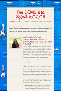 The DCMS Bat Signal: 9/17/19