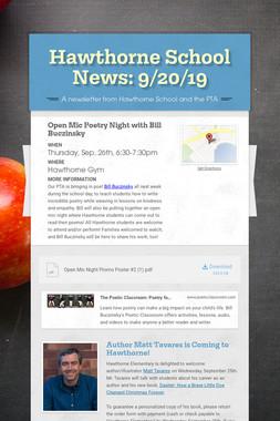 Hawthorne School News: 9/20/19