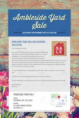 Ambleside Yard Sale