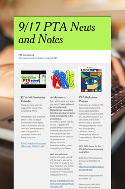 9/17 PTA News and Notes