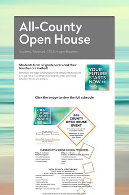 All-County Open House