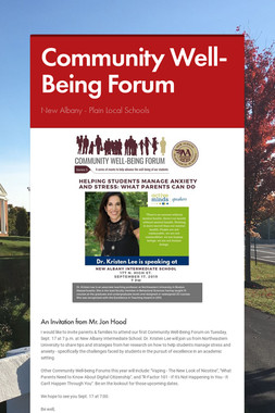 Community Well-Being Forum
