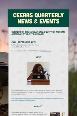 CEEAAS Quarterly News & Events