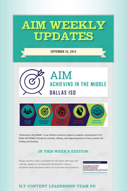 AIM WEEKLY UPDATES