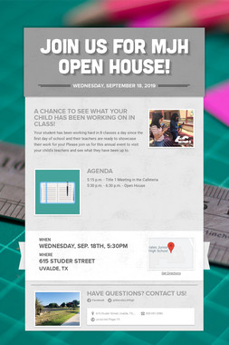 Join us for MJH OPEN HOUSE!