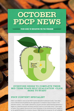 October PDCP News