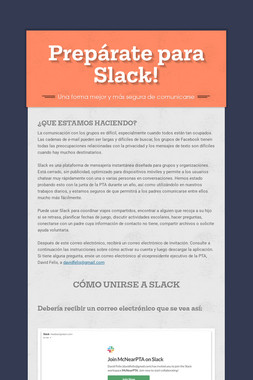 Prepárate para Slack!