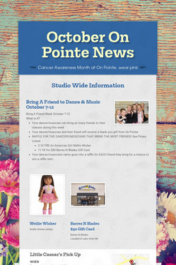 October On Pointe News