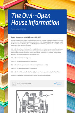 The Owl--Open House Information