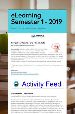 eLearning Semester 1 - 2019