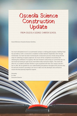 Osceola Science Construction Update
