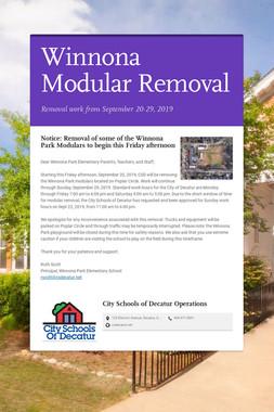 Winnona Modular Removal