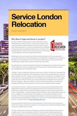 Service London Relocation