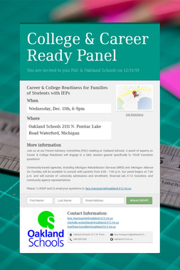 College & Career Ready Panel