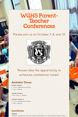 WGHS Parent-Teacher Conferences