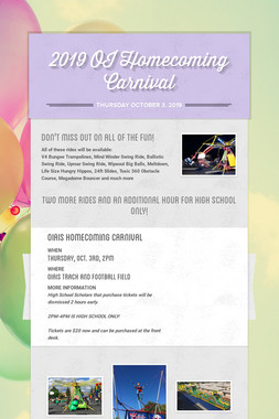 2019 OI Homecoming Carnival
