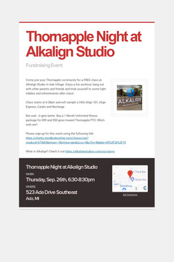 Thornapple Night at Alkalign Studio