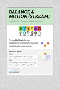 BALANCE & MOTION (STREAM)