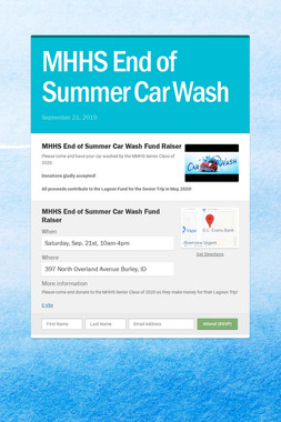 MHHS End of Summer Car Wash