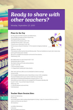 Ready to share with other teachers?