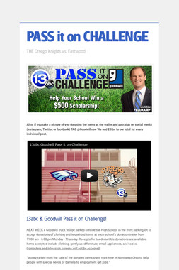 PASS it on CHALLENGE