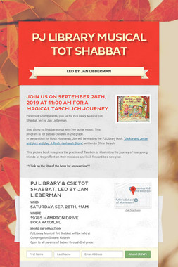 PJ Library Musical Tot Shabbat
