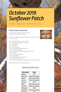 October 2019 Sunflower Patch