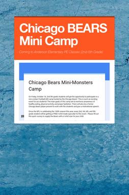 Chicago BEARS Mini Camp