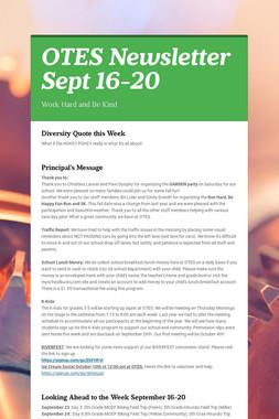 OTES Newsletter Sept 16-20