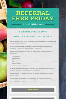 Referral Free Friday