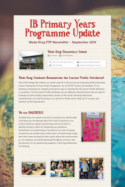 IB Primary Years Programme Update