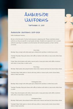 Ambleside Uniforms