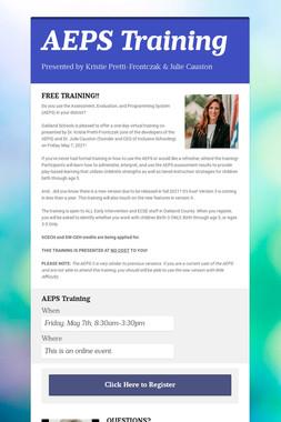 AEPS Training
