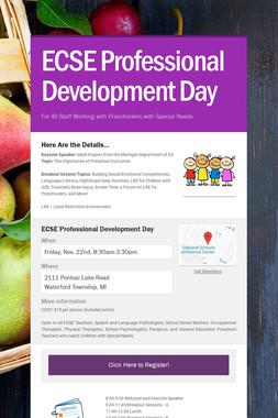 ECSE Professional Development Day