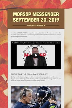 MoASSP Messenger September 20, 2019