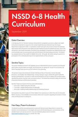 NSSD 6-8 Health Curriculum