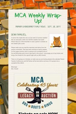 MCA Weekly Wrap-Up!