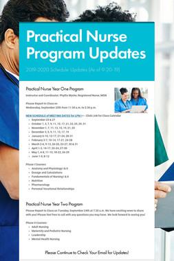 Practical Nurse Program Updates