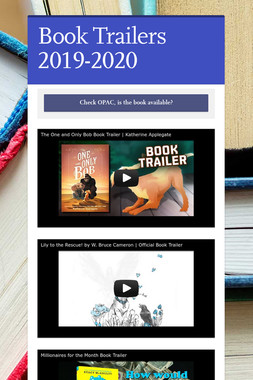 Book Trailers 2019-2020