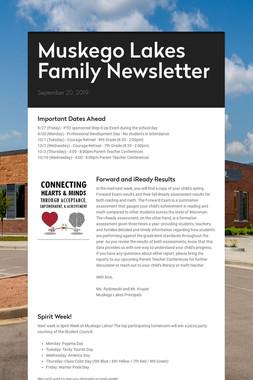 Muskego Lakes Family Newsletter