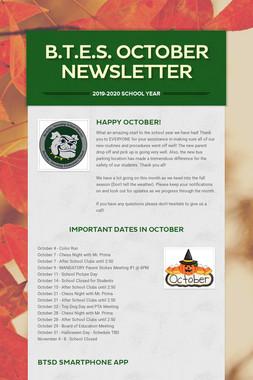 B.T.E.S. October Newsletter