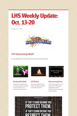 LHS Weekly Update: Oct. 13-20