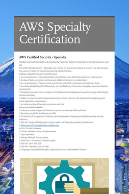 AWS Specialty Certification