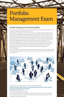Portfolio Management Exam