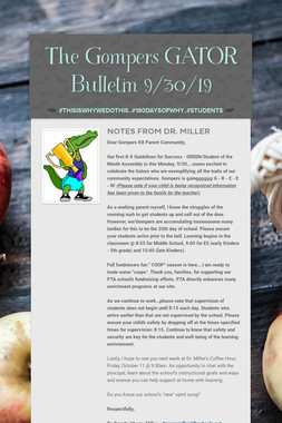 The Gompers GATOR Bulletin 9/30/19